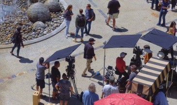 Location Filming, Los Angeles, USA - 01 May 2017