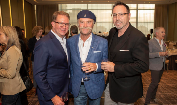 Bell Media's Vice President, Communications, Scott Henderson with Insight Productions' Jon Brunton and Bell Media President, Content & Programming, Mike Cosentino